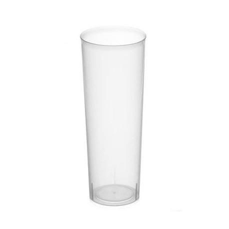 """Vasos de Plástico PP Tubo """"Irrompibles"""" 330ml (10 Uds)"""