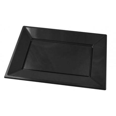 Bandejas de Plástico Negras 33 x 22,5 cm (Paquete 25 Uds)