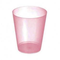 """Vasos de Plástico PP Sidra """"Irrompibles"""" Rojo Translúcido 480ml (20 Uds)"""