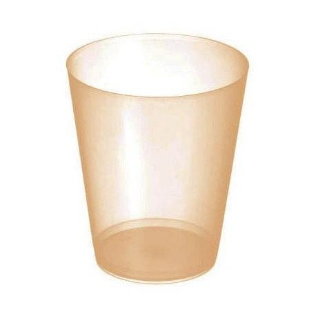 "Vasos de Plástico PP Sidra ""Irrompibles"" Naranja Translúcido 480ml (20 Uds)"