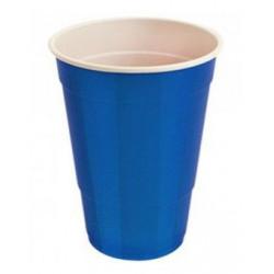 Vasos de Plástico PS Fiesta Bicolor 500 cc Azul