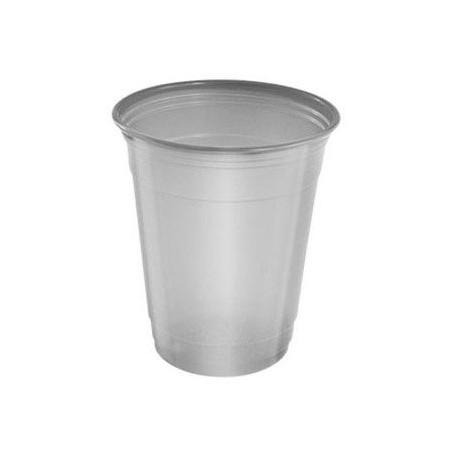 Vasos de Plástico PP Plateados 360ml (10 Uds)