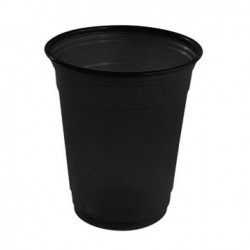Vasos de Plástico PP Negros 360ml (10 Uds)