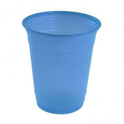 Vasos de Plástico PP Azul Nube 360ml (10 Uds)