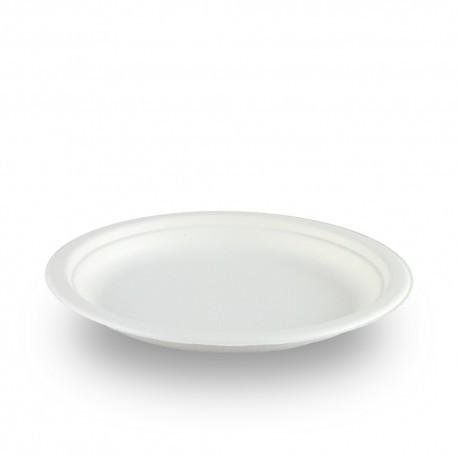 Platos Biodegradables Caña de Azúcar Postre 17cm (50 Uds)