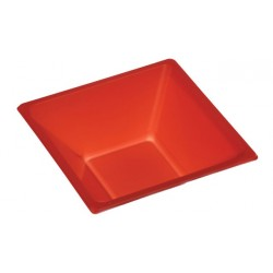Cuencos de Plástico Rojos 12 cm (Paquete 25 Uds)