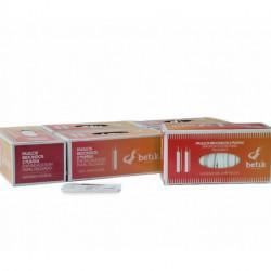 Palillos de Madera Redondos 2 Puntas Enfundados en Papel 65mm (1.000 Uds)