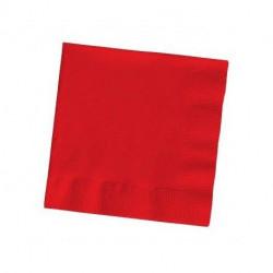 Servilletas de Papel 33x33cm Rojas 2 Capas (50 Uds)