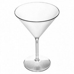 Copas Cocktail Martini Reutilizables Plástico Tritán 300ml (2 Uds)