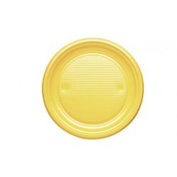 Platos de Plástico Amarillos 20,5cm (10 Uds)