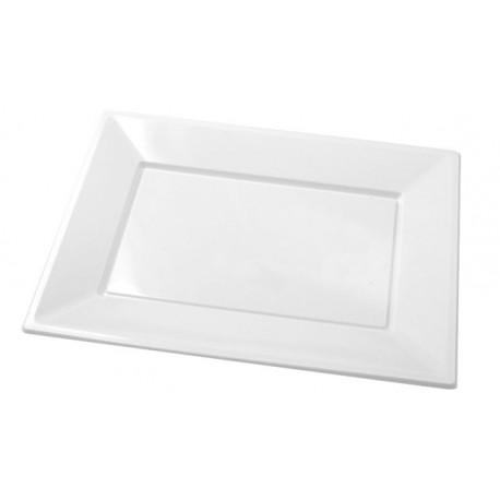 Bandejas de Plástico Blancas 33 x 22,5 cm (Paquete 25 Uds)