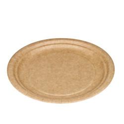 Platos Biodegradables Cartón Kraft 18cm (50 Uds)
