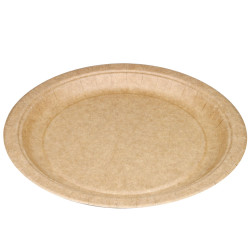 Platos Biodegradables de Cartón Kraft 23cm (50 Uds)