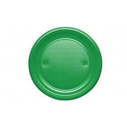 Platos de Plástico Verdes 20,5 cm (Paquete 10 Uds)