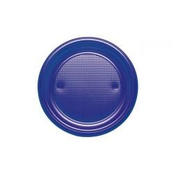 Platos de Plástico Azul Marino 20,5 cm (Paquete 10 Uds)