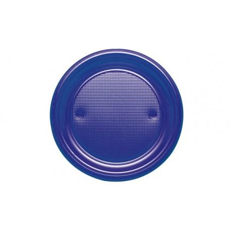 Platos de Plástico Azul Marino 20,5cm (10 Uds)