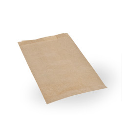Bolsas de Papel Kraft 12+6x20cm 40gr (125 Uds)