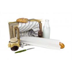 Bolsas de Papel Blancas 12+6x50cm 40gr (1.000 Uds)