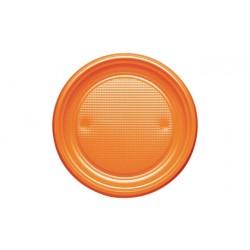 Platos de Plástico Naranjas 20,5cm (10 Uds)