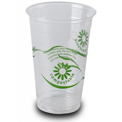 Vasos Biodegradables PLA Impresos 330ml (1.250 Uds)