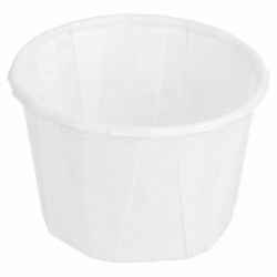 Tarrinas de Papel Plisado Blancas 30ml (250 Uds)