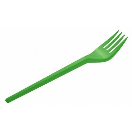 Tenedores de Plástico Verdes 16,5cm (15 Uds)