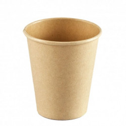 Vasos Biodegradables de Cartón Kraft y PLA 180ml Ø7,4cm (1.000 Uds)