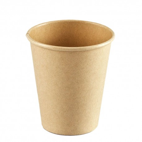Vasos Biodegradables de Cartón Kraft y PLA 180ml (1.000 Uds)