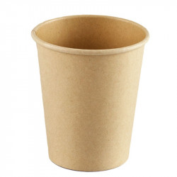 Vasos Biodegradables de Cartón Kraft y PLA 240ml Ø8cm (1.000 Uds)