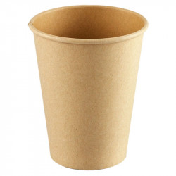 Vasos Biodegradables de Cartón Kraft y PLA 240ml (1.000 Uds)