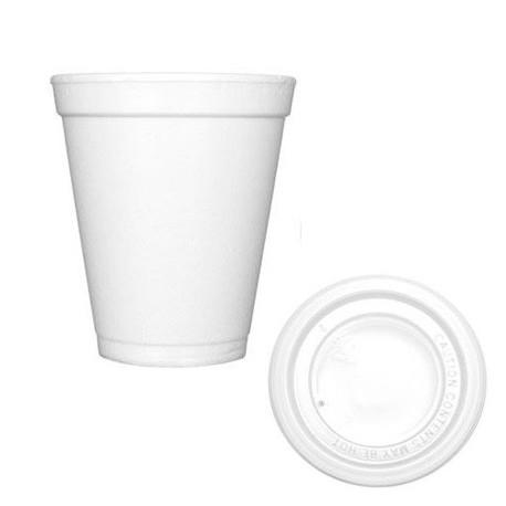 Vasos Térmicos Foam 200 ml con Tapa (25 Uds)