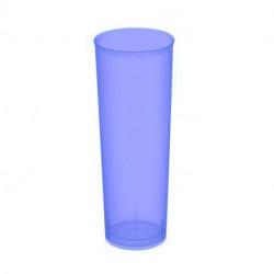 """Vasos de Plástico PP Tubo """"Irrompibles"""" Lila Flúor 300ml (6 Uds)"""