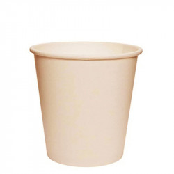 Vasos Biodegradables de Cartón Natural 120ml Ø6,1cm (1.000 Uds)