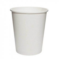 Vasos Biodegradables de Cartón Blanco 200ml Ø7,4cm (50 Uds)