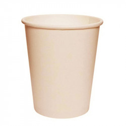 Vasos Biodegradables de Cartón Natural 200ml Ø7,4cm (50 Uds)