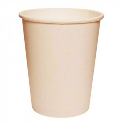 Vasos de Cartón Natural 250ml Ø8cm (50 Uds)
