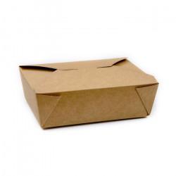 Cajas de Cartón Kraft para Comida 21,1x15,8x6,8cm 1.980ml (200 Uds)