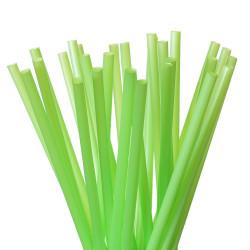 Pajitas Biodegradables Rectas Verdes Ø6mm x 23cm (500 Uds)