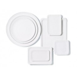 Bandejas de Cartón Blancas Rectangular 22 x 28cm (100 Uds)