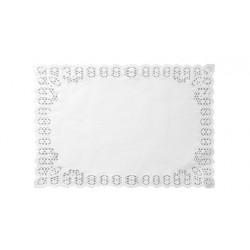 Blondas de Papel Blancas Rectangulares 34 x 41 cm (Caja 2.500 Uds)