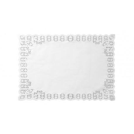 Blondas de Papel Blancas Rectangulares 34 x 41cm (2.500 Uds)