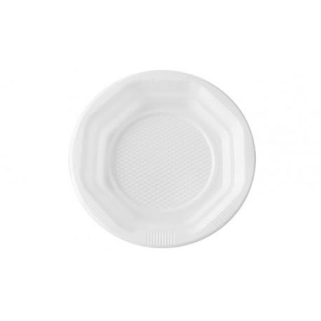 Platos de Plástico Blancos 14 cm (Paquete 100 Uds)