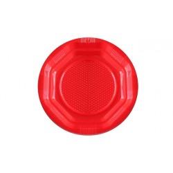Platos de Plástico Rojos 14 cm (Paquete 15 Uds)