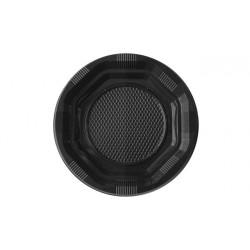 Platos de Plástico Negros 14cm (15 Uds)