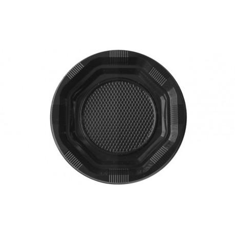 Platos de Plástico Negros 14 cm (Paquete 15 Uds)