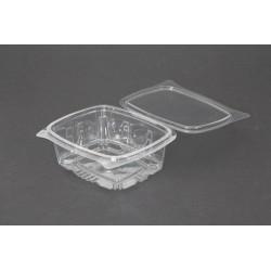 Envases con Tapa Plástico PET Transparentes 500 ml (Paquete 100 Uds)