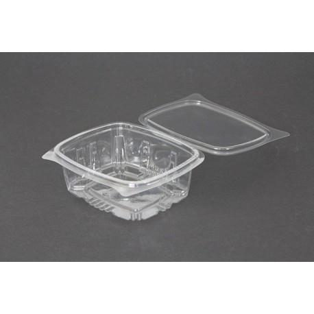 Envases con Tapa Plástico PET Transparentes 500ml (100 Uds)