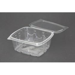 Envases con Tapa Plástico PET Transparentes 1.000 ml (100 Uds)