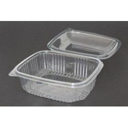 Envases con Tapa Alta Plástico PET Transparentes 1500 ml (Caja 200 Uds)