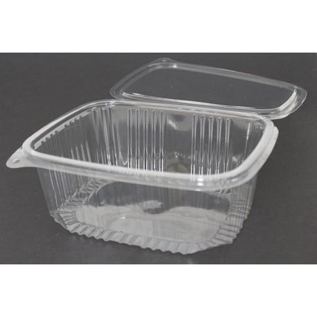 Envases con Tapa Plástico PET Transparentes 2.000 ml (Caja 200 Uds)
